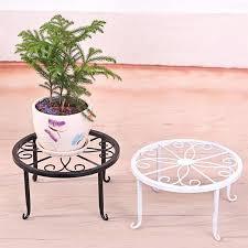 <b>WINOMO</b> 24x24x13cm Indoor Outdoor Plant Stand <b>Metal</b> Flowerpot ...