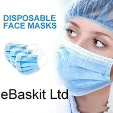 Froomer FM50 50 Pieces <b>3</b>-<b>Layer Disposable</b> Face Adult <b>Anti</b>-<b>Fog</b> ...