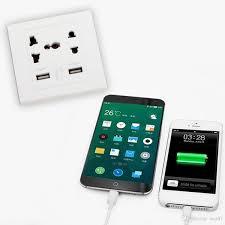 <b>50PCS New Brand</b> Dual USB Port Electric Wall Charger Dock