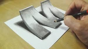 How to <b>Draw</b> 3D Letter M - <b>Drawing</b> with <b>pencil</b> - Awesome Trick Art ...