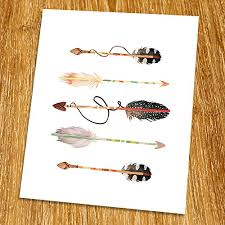 Arrow Print (Unframed), Watercolor Arrow, Nursery <b>Wall Art</b>, <b>Tribal</b>