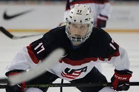 photo essay meg linehan live from usa world hockey jocelyne lamoureux davidson skates in for the face off she scored the game