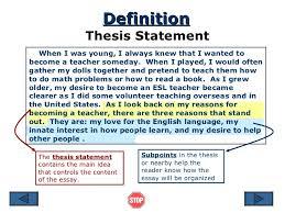 c good thesis statement FAMU Online