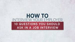 10 job interview questions you should ask