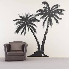 palm tree wall stickers: palm tree beach wall sticker oakdene designs