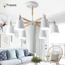 <b>Trazos Nordic</b> Chandelier E27 With Iron Lampshade For Living ...