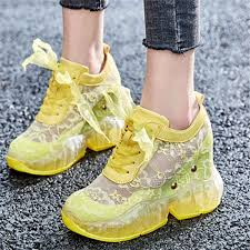 NAYIDUYUN Summer Tennis <b>Shoes Women Cow</b> Leather Wedges ...