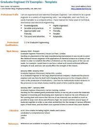Graduate cv template uk