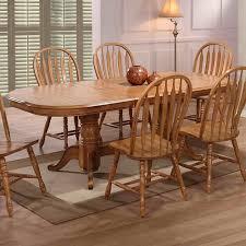 solid oak furniture dining missouri double pedestal dining table in rustic oak