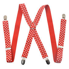 hot <b>4 clips</b> dot colored <b>men's suspenders for men</b> 2.5cm x women's ...