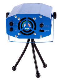<b>Лазерный проектор</b> 130*92*52 мм с эффектом цветомузыки, 230 В
