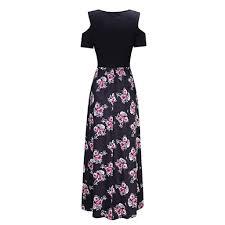 <b>Women</b> Long Maxi Dress,<b>Sexy</b> Cold Shoulder Short Sleeve Pocket ...