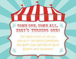 circus invitation template com best images of circus printable invitation templates
