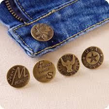 10pcs Bronze fashion <b>metal jeans</b> button men and <b>women</b> denim ...