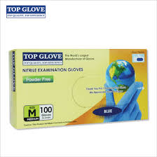 Top Glove Nitrile Powder Free Examination <b>Glove</b> (<b>Blue</b>, 100 pcs)