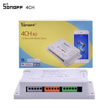 <b>Sonoff</b> 4CH 220V <b>Wireless 4</b> channel <b>WIFI</b> Switch Independent ...
