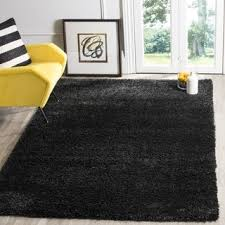 safavieh california cozy solid black shag rug 4 x 6 california shag black 4 ft