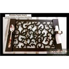 Brown <b>Leather</b> Laser Cut <b>Dining Table Mats</b>, Packaging Type: Box ...