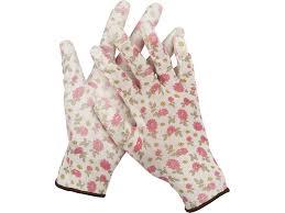 <b>Садовые перчатки Grinda</b> бело-розовые 11291-M - цена, отзывы ...