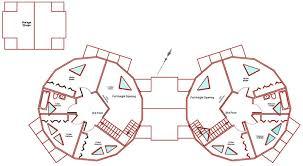 Kwickset Konstruction Kits  Geodesic Dome Home Floor Plans ft Dome Duplex Second Floor Plan
