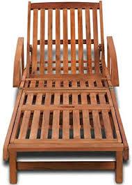 CUORE BANGKOK Sun Lounger Solid Acacia Wood ... - Amazon.com
