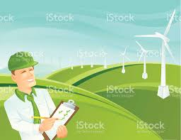 green collar worker landscape stock vector art istock green collar worker landscape royalty stock vector art