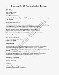 sample resume for radiologic technologist