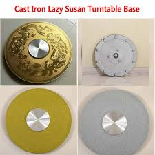 HQ IL01 Cast Iron Lazy Susan Turntable Base for Glass Table ...