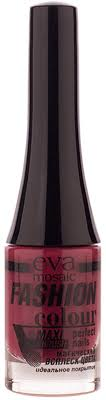 Eva Mosaic <b>Лак для ногтей Fashion</b> Colour, 6 мл, 111 Вишневый ...