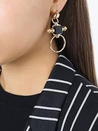 <b>Eshvi</b> boucles d'oreilles longues à design géométrique | <b>Украшения</b>