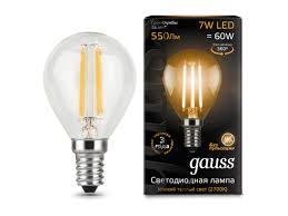 Лампочка <b>LED</b> Filament Globe E27 7W 2700K - Чижик