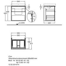 <b>Keramag</b> Geberit <b>ICon</b> 840360000 60 тумба для <b>раковины</b> купить в ...