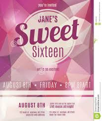 invitation flyer for sweet sixteen party stock vector image invitation flyer for sweet sixteen party