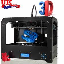 <b>CTC</b> Black High Precision Dual Extruder <b>FDM 3D</b> Printer 1 Roll Free ...