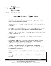 career objective resume examples com career objective resume examples for a resume example of your resume 5