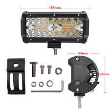 ECAHAYAKU <b>1Pair</b> 7 inch Tri row Led Work Light Bar 120W with ...