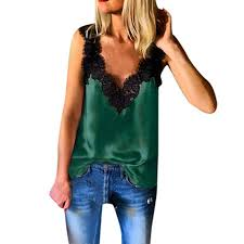 Lovor Women's Deep V Neck <b>Summer Sexy</b> Lace Strappy Solid ...