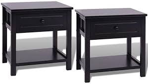 Vislone <b>Bedside Cabinets</b> Telephone Stands End Table Set of <b>2 pcs</b> ...