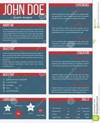 new resume cv template separate categories stock illustration new resume cv template separate categories