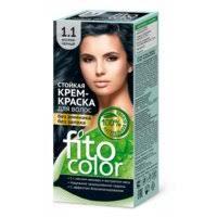 «<b>Стойкая крем-краска для</b> волос (цвет иссиня-черный) Fitocolor ...