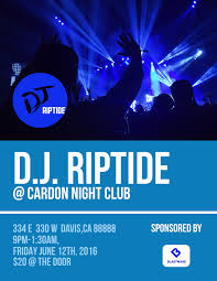 flyer templates examples lucidpress dj club flyer template