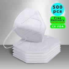 <b>500 PCS</b> CE FDA <b>Fast Delivery</b> by DHL FEDEX UPS N95 4-Layer ...