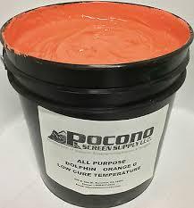 All Purpose <b>Dolphin</b> Orange <b>Low</b> Cure <b>Temperature</b> Plastisol Ink ...