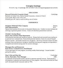 sample bartender resume template     download free documents in    bartender resume sample with experience