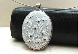 Floral Jewellery Floral Necklace Polymer clay by Floraljewel, $41.00 ...