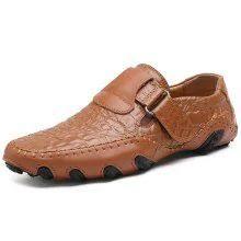 <b>IZZUMI Men</b> Casual Leather <b>Shoes</b> Low-top Handmade <b>Footwear</b> ...