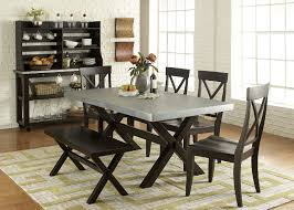 images zinc table top: preston zinc top table with  side chairs