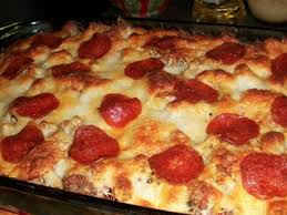 Image result for pizza pasta casserole