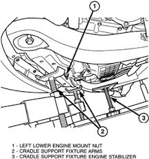 solved change front motor mount 2005 chrysler pacifica fixya where can i a diagram of my 2005 chrysler pacifica engine to see where the motor mounts are located