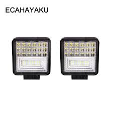<b>ECAHAYAKU 2pcs 4 inch</b> LED Work Light Bar 126W Combo Beam